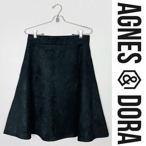 Agnes & Dora Faux Suede A-Line Skirt Sz L